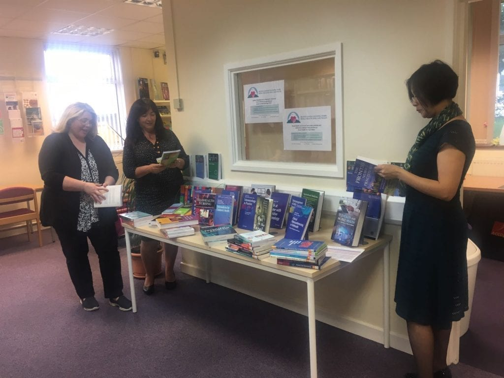 (left to right): Jo Creasey, Project Development Officer RHCW, Anna Prytherch, Project Manager RHCW and Ros Lai, Library & Knowledge Services Manager, BGH